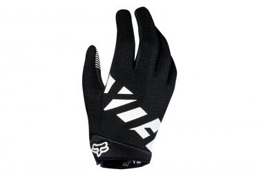 Fox Ranger Youth Long Gloves Black White