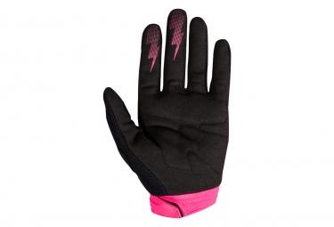 Gants Longs Femme Fox Dirtpaw Race Rose Noir