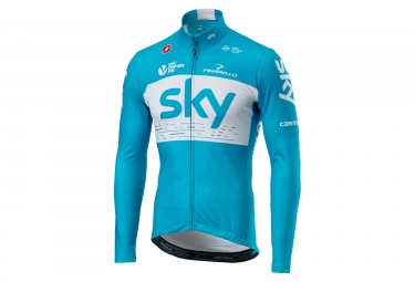 Maillot manches longues castelli thermal team sky bleu l