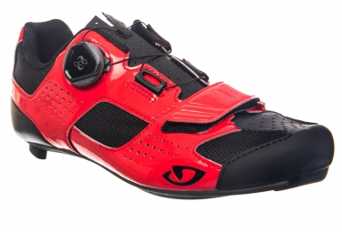 Chaussures route giro trans boa rouge noir 41