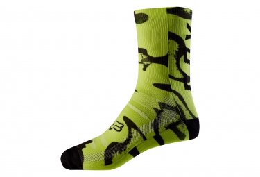 Fox 8'' Print Trail Pair of Socks Yellow