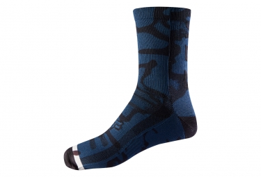 Fox 8'' Print Trail Pair of Socks Blue