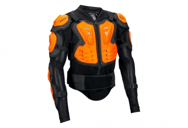 veste de protection fox titan sport noir orange s