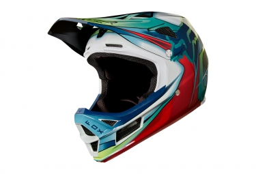 Casque integral fox rampage pro carbon kustom blanc rouge noir xl 61 62 cm