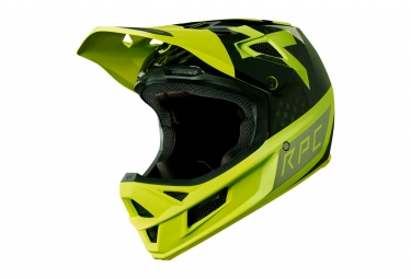 Casque integral fox rampage pro carbon preest jaune noir xxl 63 64 cm