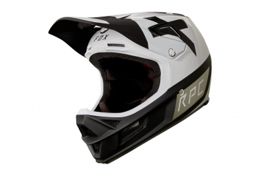 Casque integral fox rampage pro carbon preest blanc noir xl 61 62 cm