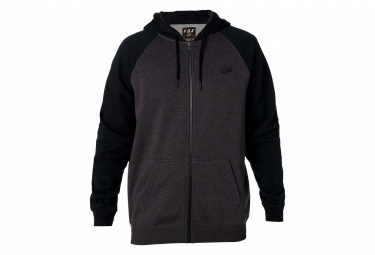 FOXFRANCE Sweat LEGACY ZIP Black Heather Bordeau