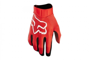 Gants longs fox airline race rouge m