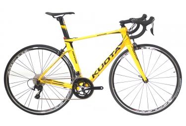 velo de route kuota 2018 kryon shimano 105 11v jaune m 167 175 cm