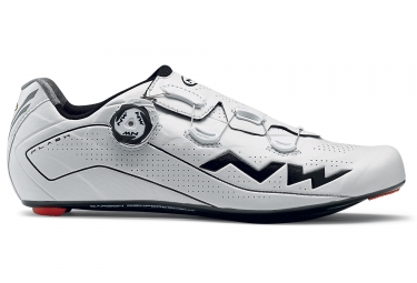 paire de chaussures route northwave flash blanc noir 45