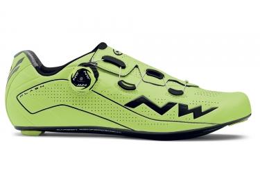 chaussures route northwave flash jaune fluo noir 45