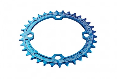 race face mono plateau narrow wide 104mm bleu 30