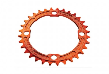 Race face mono plateau narrow wide 104mm orange 30