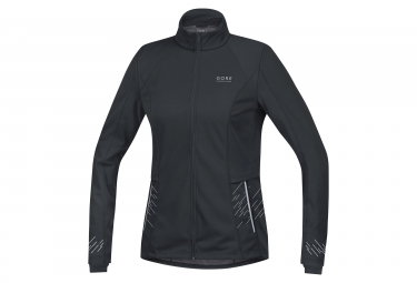 Veste coupe vent femme gore running wear mythos gore windstopper noir m