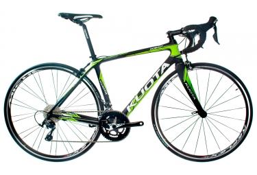 velo de route kuota 2018 kobalt shimano 105 11v noir vert m 167 175 cm