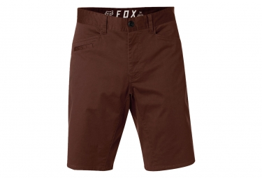 short fox stretch chino marron 32