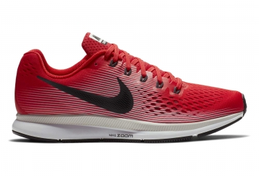 chaussures de running nike air zoom pegasus 34 rouge gris homme 45