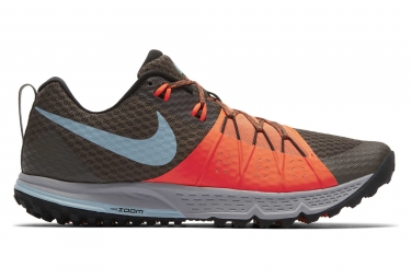 Chaussures de trail nike air zoom wildhorse 4 marron orange homme 41