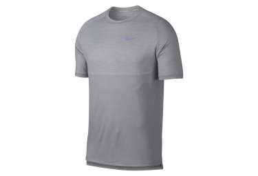 Maillot manches courtes nike dry medalist gris l