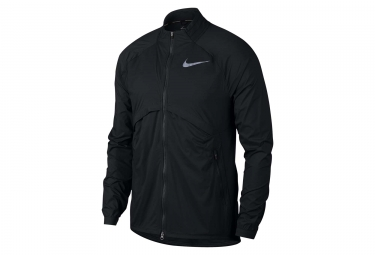 veste coupe vent deperlant homme nike shield convertible noir l