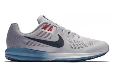 chaussures de running nike air zoom structure 21 gris bleu homme 42