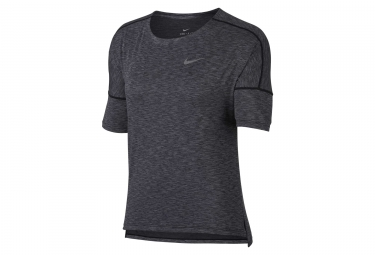 Maillot manches courtes femme nike dry medalist gris xs