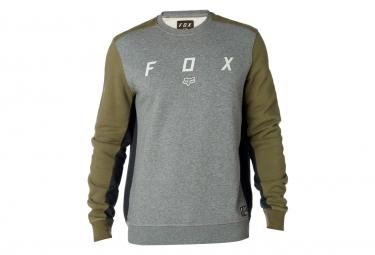Fox Harken Crew Fleece Gray Green