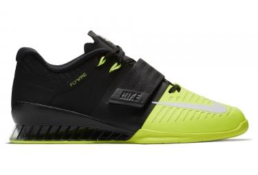 chaussures de cross training nike romaleos 3 noir jaune homme 45