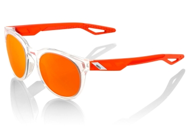 lunettes 100 campo crystal clear verres orange miroir
