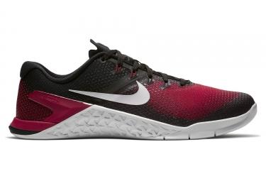 chaussures de cross training nike metcon 4 noir rouge 42