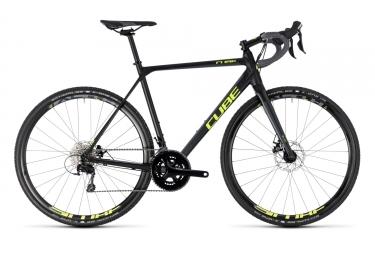 Velo de cyclo cross cube 2018 cross race shimano 105 11v noir jaune 53 cm 165 175 cm
