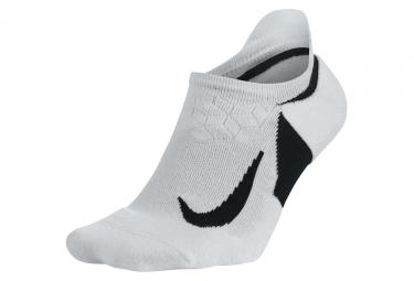 Nike Dry Elite Cushioned No-Show Pair of Socks White