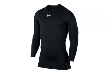 Maillot de Compression Manches Longues Nike Pro Warm Noir