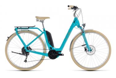 Velo de ville electrique cube 2018 elly ride hybrid 400 easy entry shimano 9v bleu b