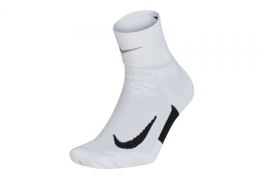 Nike Elite Cushion Quarter Pair of Socks White