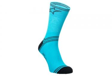 chaussettes alpinestars kamikaze bleu noir 42 48