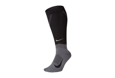 Nike Elite Compression Over-The-Calf Pair of Socks Black Grey