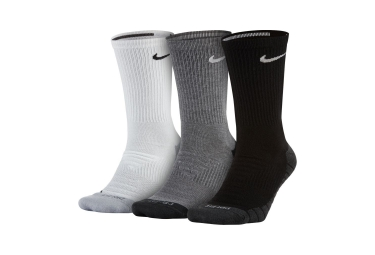 Nike Everyday Max Cushion Crew Pairs of Socks (3 Pairs) Black Grey White