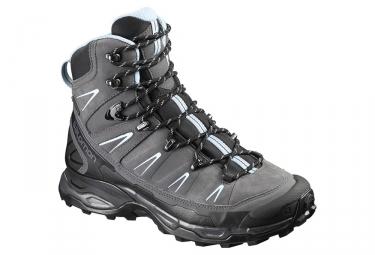 chaussures de randonnee femme salomon x ultra trek gtx gris bleu 38