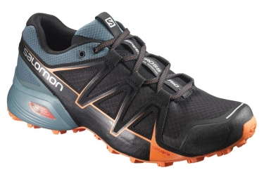 chaussures de trail salomon speedcross vario 2 noir vert orange 44 2 3
