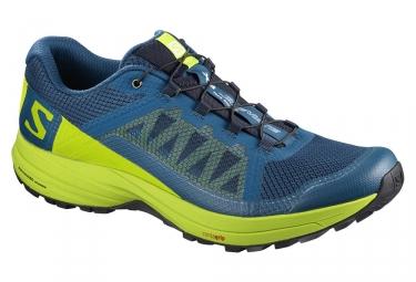 Chaussures de trail salomon xa elevate bleu vert fluo 44 2 3
