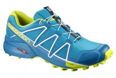 Chaussures de trail salomon speedcross 4 bleu vert 46