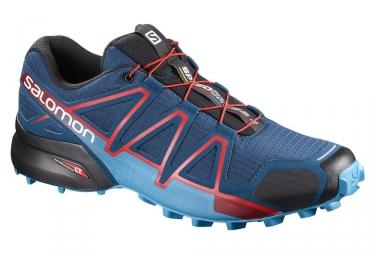 Chaussures de trail salomon speedcross 4 bleu rouge 42