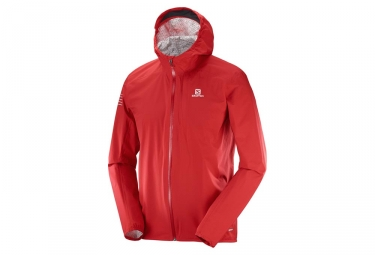 Veste coupe vent salomon bonatti wp rouge m