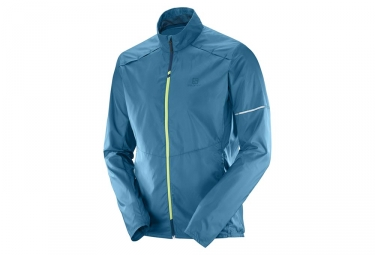 Veste coupe vent salomon agile bleu xl