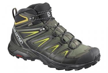Chaussures de Randonnée Salomon X Ultra 3 Mid GTX Kaki Homme
