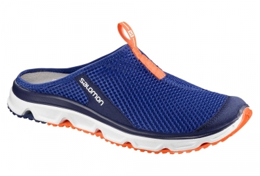 chaussures de recuperation salomon rx slide 3 0 bleu orange 42