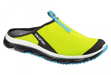 Chaussures de recuperation salomon rx slide 3 0 jaune fluo bleu 46