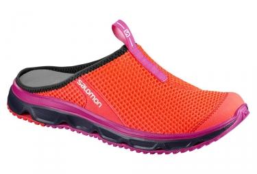Chaussures de recuperation femme salomon rx slide 3 0 orange rose 40