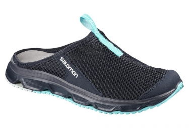 Chaussures de Récupération Femme Salomon RX Slide 3.0 Noir Bleu